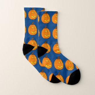Jack o' Lantern Blue Socks 1