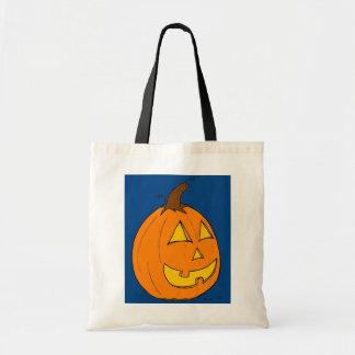 Jack o' Lantern Blue Tote Bag