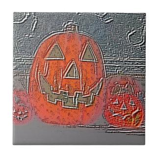 Jack-O Lantern Ceramic Tile