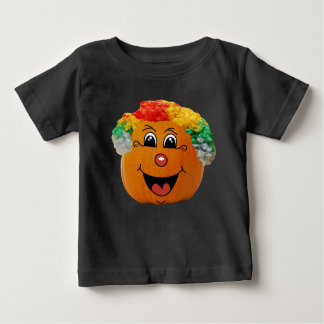 Jack o' Lantern Clown Face, Halloween Pumpkin Baby T-Shirt