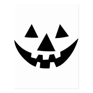 Jack-O-Lantern Face Postcard
