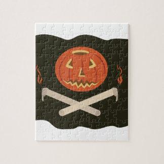 Jack-O-Lantern Flag Jigsaw Puzzle