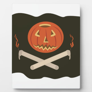 Jack-O-Lantern Flag Plaque