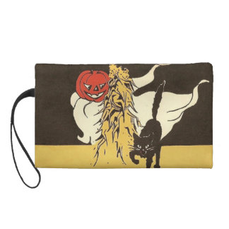 Jack O' Lantern Ghost Black Cat Cornstalk Wristlets