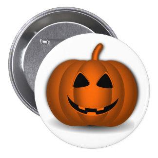 Jack o' Lantern Halloween Button
