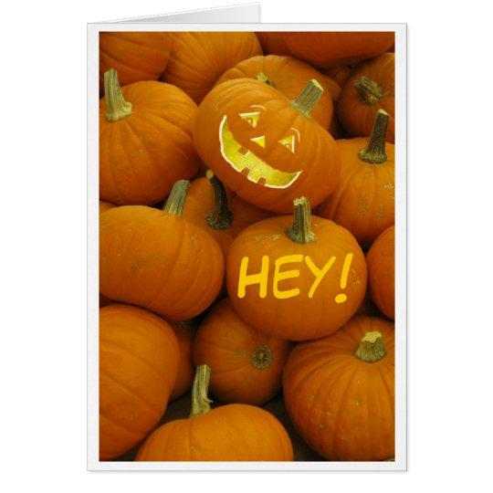 Jack O' Lantern Halloween Card