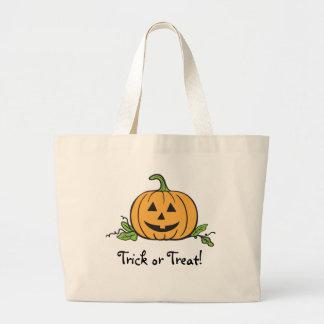 Jack O Lantern Halloween Jumbo Tote Bag