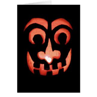 Jack-O-Lantern Halloween Note Card