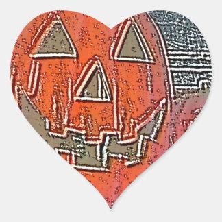 Jack-O Lantern Heart Sticker
