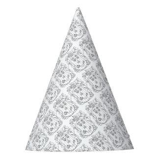 Jack O Lantern Line Art Design Party Hat
