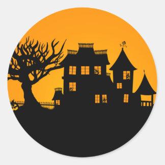 Jack O Lantern Manor Classic Round Sticker