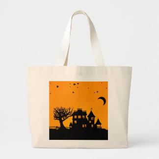 Jack O Lantern Manor Jumbo Tote Bag