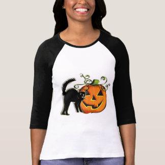 Jack-O-Lantern N Cat T-shirt