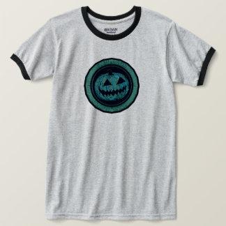 Jack O Lantern Octagon Sea Green Worn Look T-Shirt