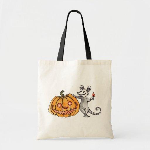 Jack-o-Lantern Opossum Trick or Treat Bag