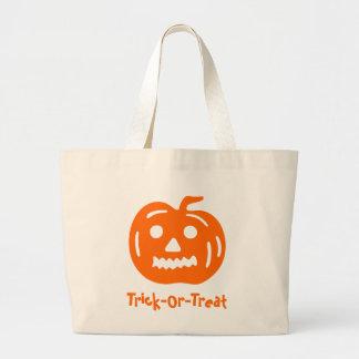 jack-o-lantern orange canvas bags