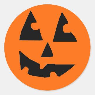 Jack O Lantern Orange Sticker