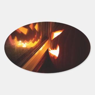 Jack O' Lantern Oval Sticker