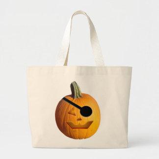 Jack O Lantern Pirate Canvas Bags