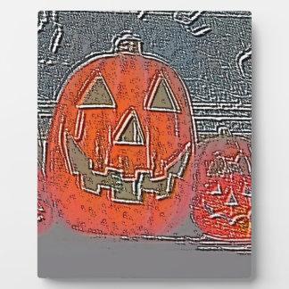 Jack-O Lantern Plaque