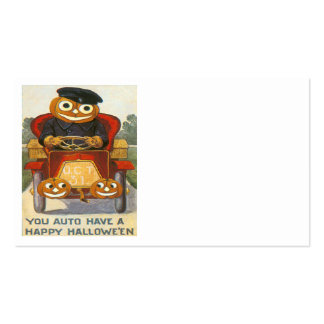 Jack O Lantern Pumpkin Car Oct 31st Business Cards