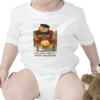 Jack O Lantern Pumpkin Car Oct 31st Baby Bodysuits