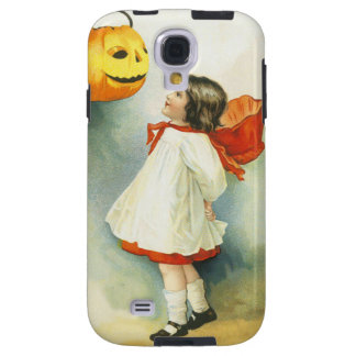 Jack O Lantern Pumpkin Cute Little Girl Galaxy S4 Case