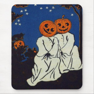 Jack O' Lantern Pumpkin Ghost Costume Mouse Pad