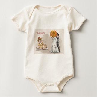 Jack O' Lantern Pumpkin Ghost Trick Or Treat Baby Bodysuit