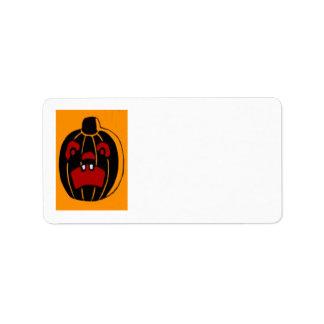Jack O Lantern Pumpkin Halloween Address Label