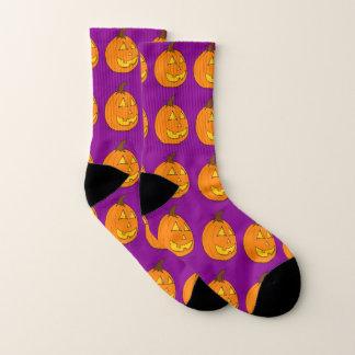 Jack o' Lantern Purple Socks 1