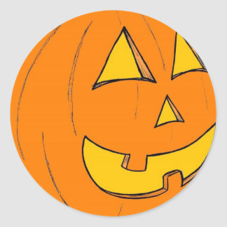 Jack o' Lantern Purple Stickers
