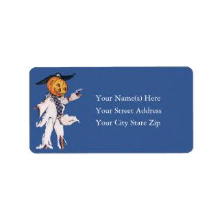 Jack O Lantern Scarecrow Address Label