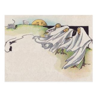 Jack O Lantern Scarecrow Cemetery Post Card