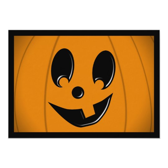 Jack-O-Lantern Silly Face with One Tooth Card