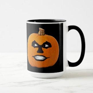 Jack o' Lantern Sinister Face, Halloween Pumpkin Mug
