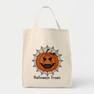 Jack-o-Lantern Spider Tote Bag