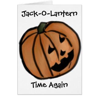 Jack-O-Lantern Time Again Halloween Card