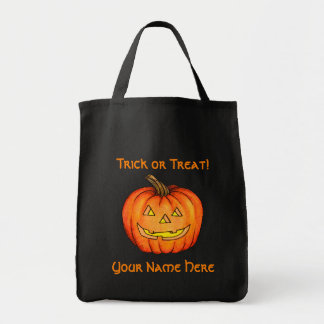 Jack-o-lantern Grocery Tote Bag