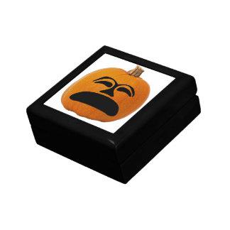 Jack o' Lantern Unhappy Face, Halloween Pumpkin Gift Box