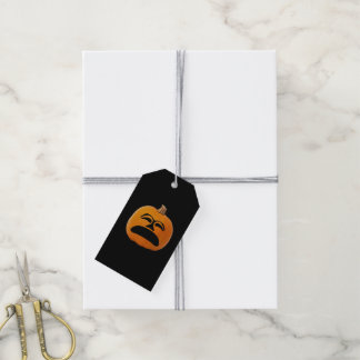 Jack o' Lantern Unhappy Face, Halloween Pumpkin Gift Tags