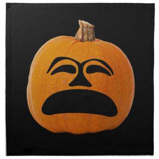 Jack o' Lantern Unhappy Face, Halloween Pumpkin Napkin