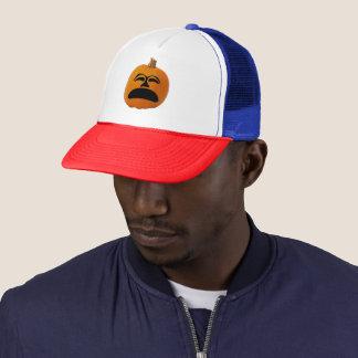 Jack o' Lantern Unhappy Face, Halloween Pumpkin Trucker Hat