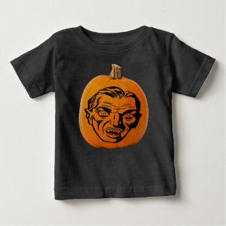 Jack o' Lantern Vampire Face, Halloween Pumpkin Baby T-Shirt