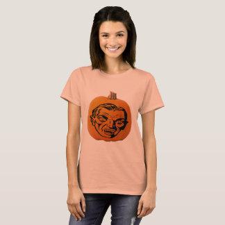 Jack o' Lantern Vampire Face, Halloween Pumpkin T-Shirt