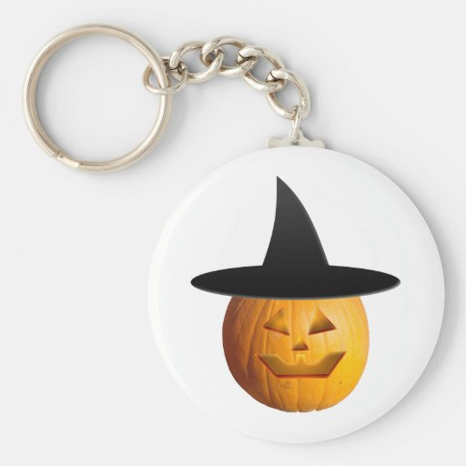 Jack O' Lantern Witch Key Chain