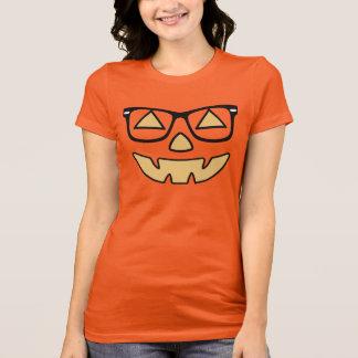 Jack-O-Lantern With Glasses T Shirts