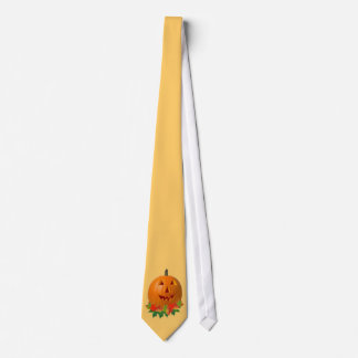 Jack O Lantern with Leaves Tie