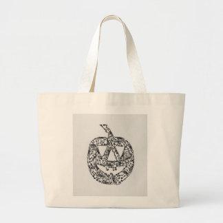 Jack-O-Lantern with Skeletons Tote Bag