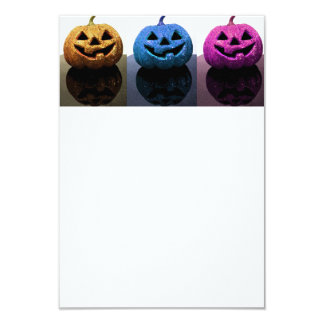 Jack-o'-lanterns 9 Cm X 13 Cm Invitation Card